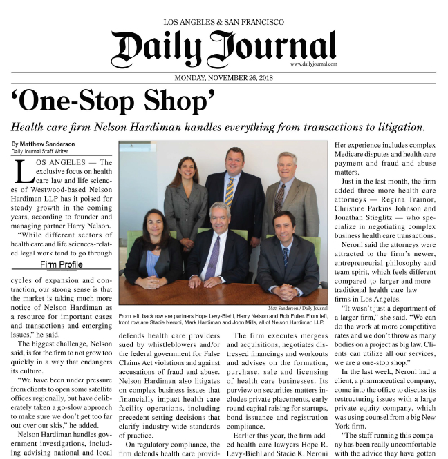 daily journal - one stop shop - nelson hardiman