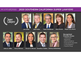 10 Nelson Hardiman Partners Named to the 2020 Southern California Super Lawyers List